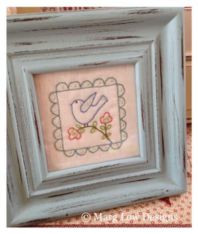 Birdie-stitchery-framed